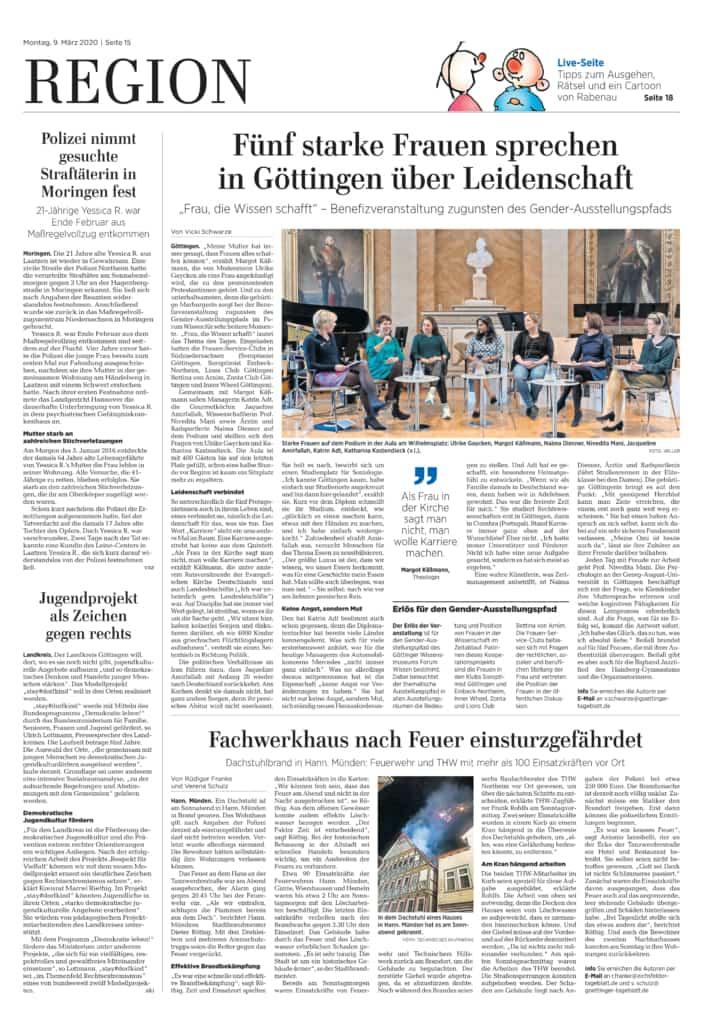 Göttinger Tageblatt, 09.03.2020 Seite 18